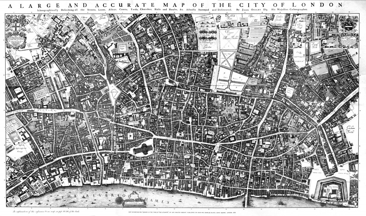 London History - A Gay Map, 1726