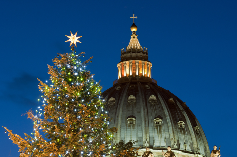 St Peter Dome at Christmas